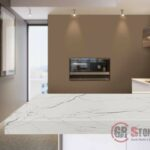 Contemporary kitchen in modern style. Luxury apartment downtown. Breakfast zone in comfortable brand new apartment.